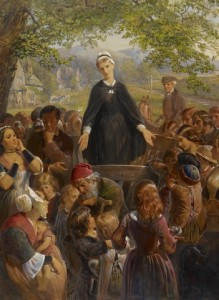 "Edward Henry Corbould, ""Dinah Morris preaching on the common"" (1861), watercolor and bodycolor, commissioned by Queen Victoria in 1860, Royal Collection Trust."